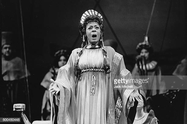 Mezzosoprano Shirley Verrett performing 'Les Troyens' at the Metropolitan Opera in 1973