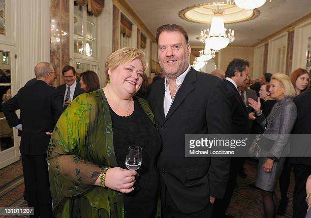 Mezzosoprano Stephanie Blythe and opera singer Bryn Terfel attend the 77th Annual Metropolitan Opera Guild luncheon's honoring of Marilyn Horne at...