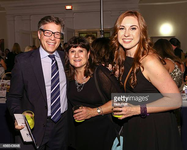 MGMs Steve Stark with Principal Entertainments Debbie Buderwitz and her daughter attend the Samburu Splash Bash Event on September 27 2014 in Santa...