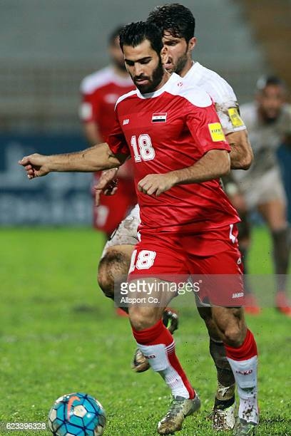 Mhd Zaher Almedani of Syria in action during the 2018 FIFA World Cup Qualifier match between Iran and Syria at Tuanku Abdul Rahman Stadium on...
