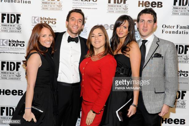 Mia Abelson Jeremy Abelson Loretta Sanchez Aria Zelnick and Eli Gesha attend FIDF CASINO NIGHT 2009 at The Metropolitan Pavilion on December 5 2009...
