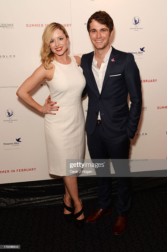 Mia Austen and Max Deacon attend a gala screening of 'Summer In February' at The Curzon Mayfair on June 10, 2013 in London, England.