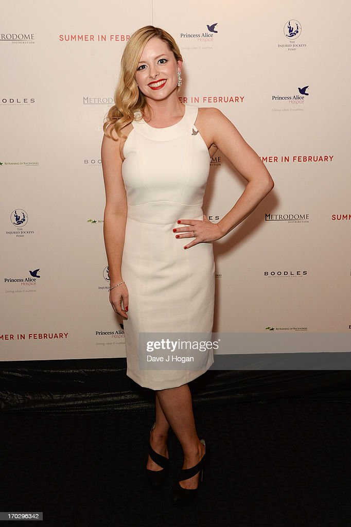 Mia Austen attends a gala screening of 'Summer In February' at The Curzon Mayfair on June 10, 2013 in London, England.