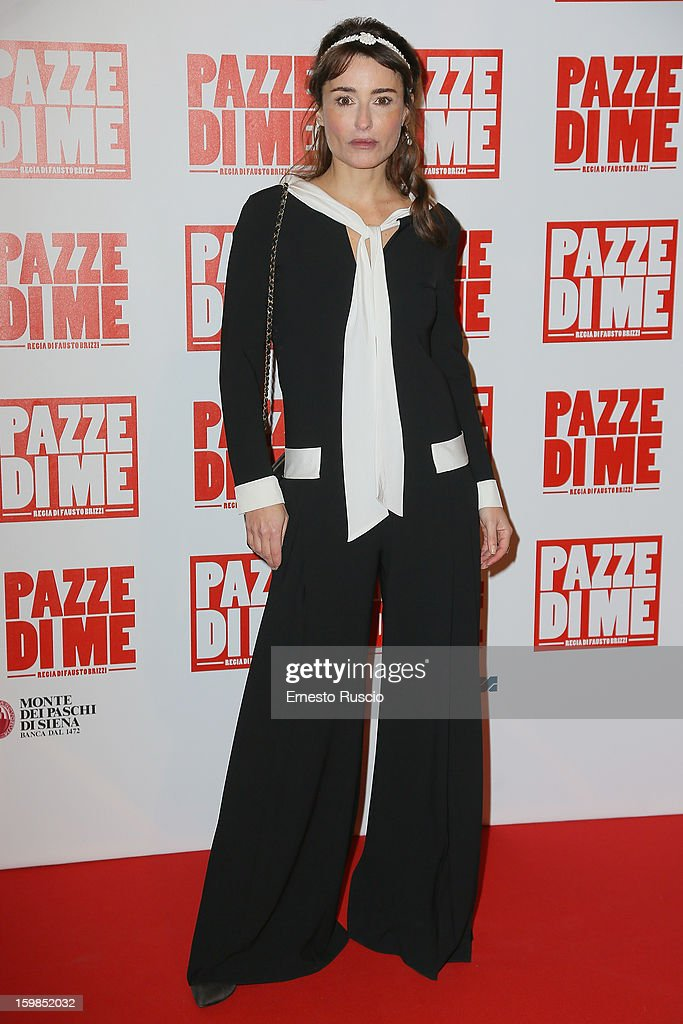 Mia Benedetta attends the 'Pazze di Me' premiere at Teatro Sistina on January 21, 2013 in Rome, Italy.
