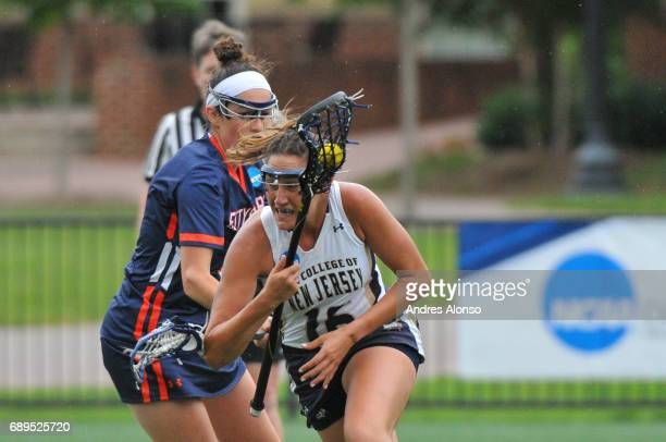 Mia Blackman of College of New Jersey drives to the goal during the Division III Women's Lacrosse Championship held at Kerr Stadium on May 28 2017 in...