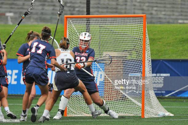 Mia Blackman of College of New Jersey scores a goal during the Division III Women's Lacrosse Championship held at Kerr Stadium on May 28 2017 in...