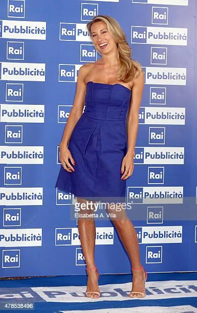 Mia Ceran attends RAI Yearly TV Show Schedule at Villa Piccolomini on June 25 2015 in Rome Italy