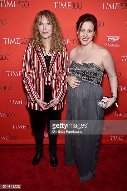 Mia Farrow and Dylan Farrow attend 2016 Time 100 Gala Time's Most Influential People In The World red carpet at Jazz At Lincoln Center at the Times...