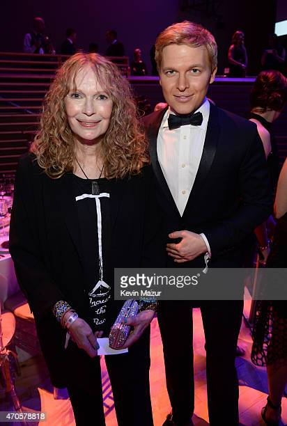 Mia Farrow and Ronan Farrow attend TIME 100 Gala TIME's 100 Most Influential People In The World at Jazz at Lincoln Center on April 21 2015 in New...