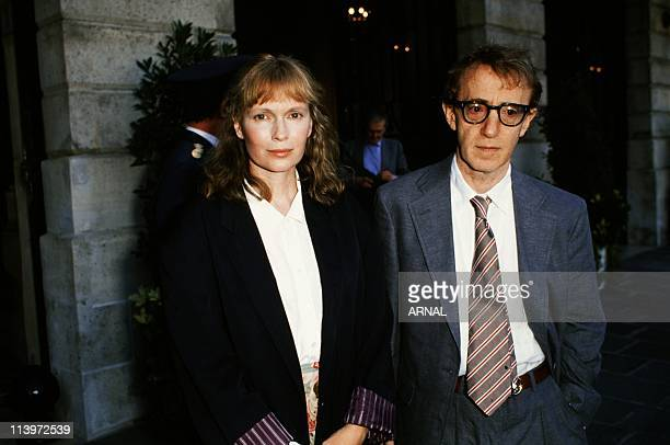 Mia Farrow and Woody Allen In Paris France On July 24 1989Mia Farrow and Woody Allen in Paris July 24 1989