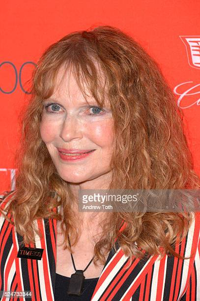 Mia Farrow attends the 2016 Time 100 Gala at Frederick P Rose Hall Jazz at Lincoln Center on April 26 2016 in New York City
