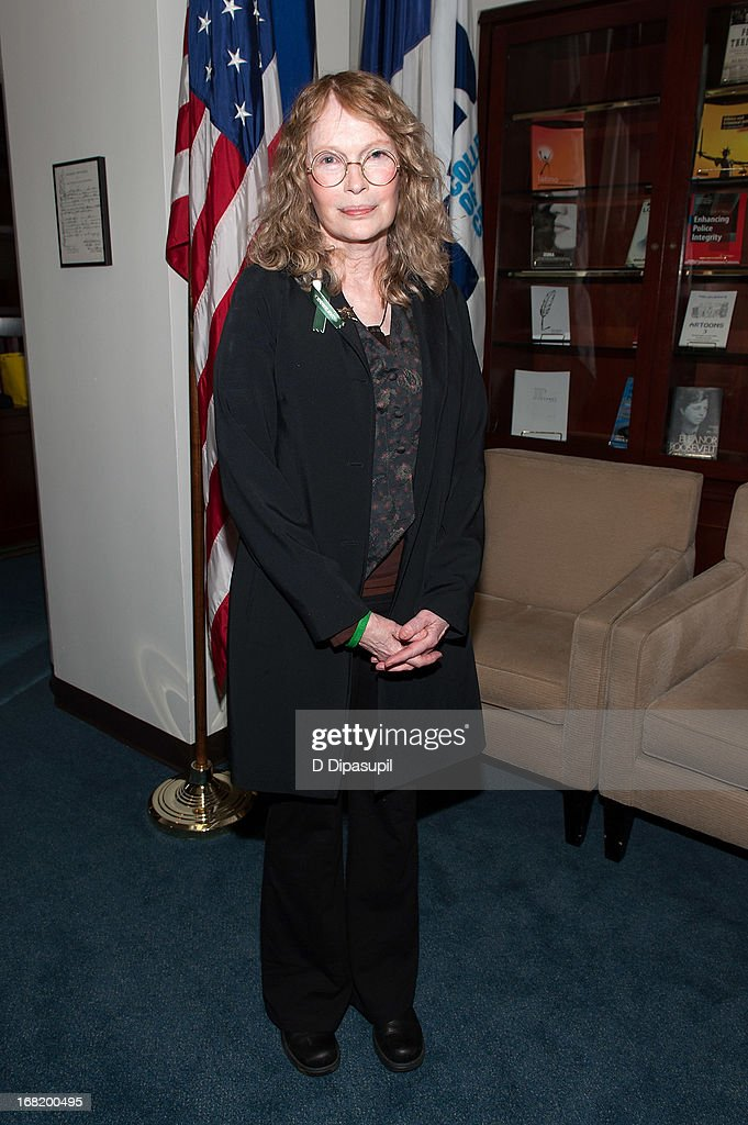 <a gi-track='captionPersonalityLinkClicked' href=/galleries/search?phrase=Mia+Farrow&family=editorial&specificpeople=93764 ng-click='$event.stopPropagation()'>Mia Farrow</a> attends the Newtown Memorial Concert at Gerald W. Lynch Theatre on May 6, 2013 in New York City.