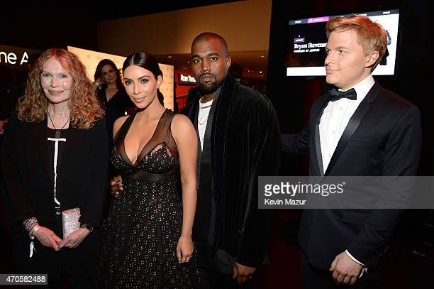 Mia Farrow Kim Kardashian West Kanye West and Ronan Farrow attend TIME 100 Gala TIME's 100 Most Influential People In The World at Jazz at Lincoln...