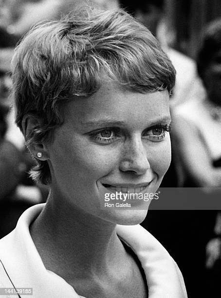 Mia Farrow sighted on location filming 'Rosemary's Baby' on August 27 1967 at Tiffany's in New York City