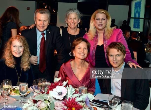Mia Farrow Tomaczek Bednarek Leora Kahn Kati Marton Rita Cosby and Ronan Farrow attend the 79th Annual Blue Card Benefit and Auction on October 21...