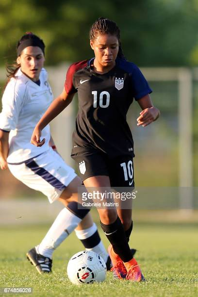Mia Fishel of USA U16 in action during the 2nd Female Tournament 'Delle Nazioni' final match between Italy U16 and USA U16 on April 29 2017 in...