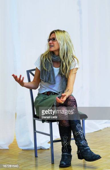 Mia Florentine Weis attends her art exhibition 'Those In Love Live In Fear' at Artdepot Fraisi on April 23 2013 in Innsbruck Austria