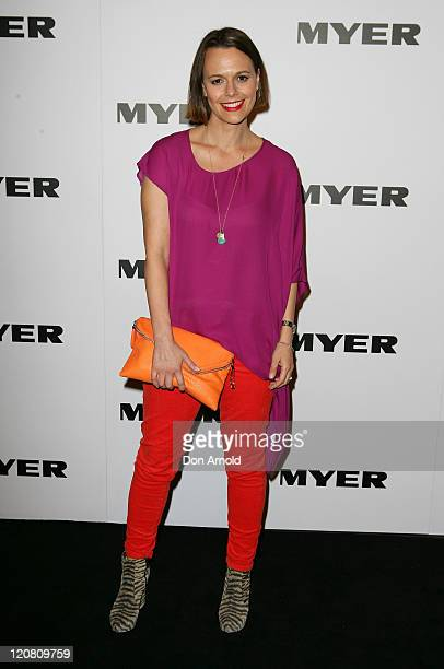 Mia Freedman arrives at the Myer Spring/Summer 2011 fashion launch on August 11 2011 in Sydney Australia