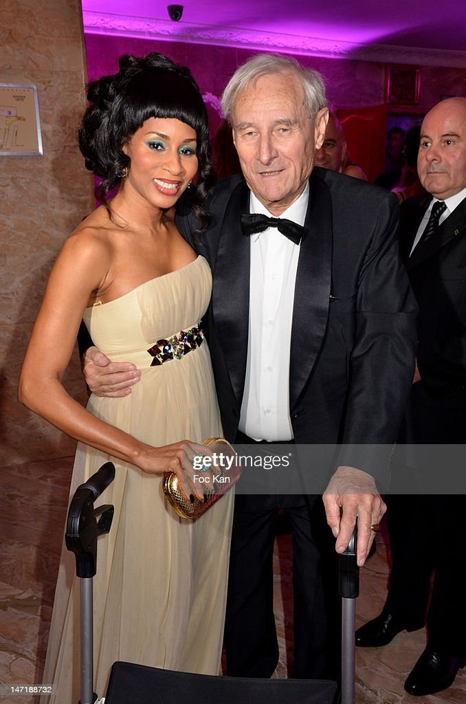 Mia Frye and Gerard De Villiers attend the Chateau de Saint Cloud Gala Auction Dinner at the Salons Hoche on June 26, 2012 in Paris, France.