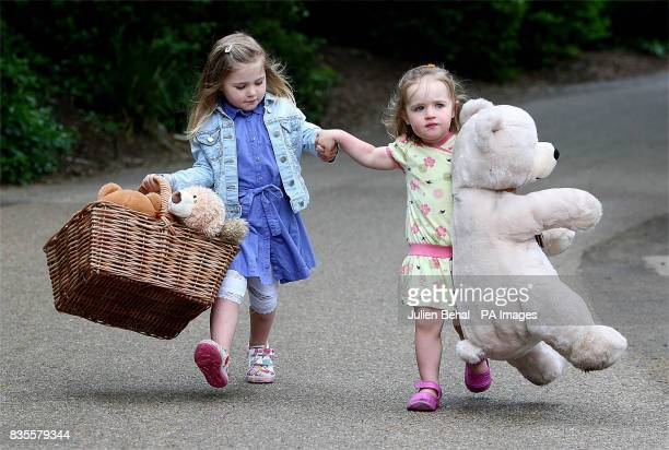 Mia Helly and Seren Evans at the Dublin Zoo as they launch plans to host the World's largest Teddy Bear picnic