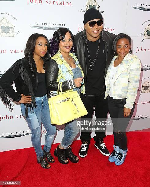 Mia Jones Simone Smith actorrecording artist LL Cool J and Nina Smith attend the 12th Annual John Varvatos Stuart House Benefit at John Varvatos on...