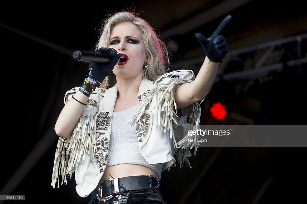 Mia Klose performs on stage at Download Festival at Donnington Park on June 13, 2014 in Donnington, United Kingdom.