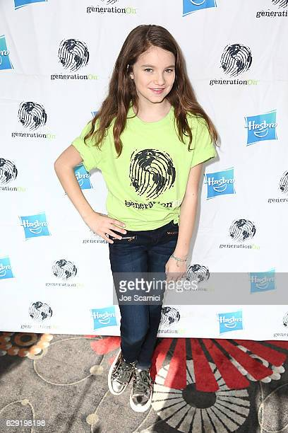 Mia Komsky arrices at the generationOn Hasbro and Pallas Management toy wrapping event on December 11 2016 in Studio City California