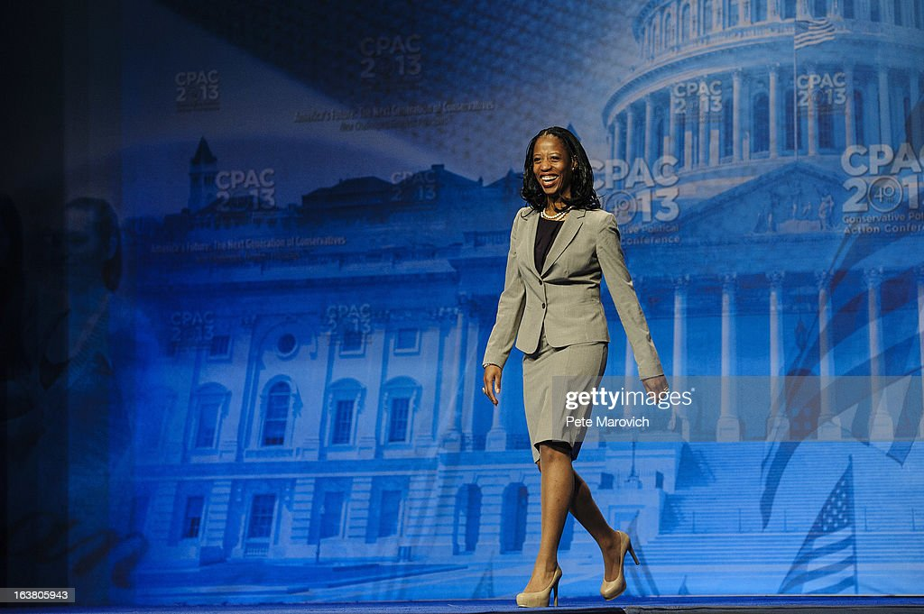 Mia Love, Republican Mayor of Saratoga Springs, Utah, speaks at the 2013 Conservative Political Action Conference (CPAC) March 16, 2013 in National Harbor, Maryland. The American Conservative Union held its annual conference in the suburb of Washington, DC to rally conservatives and generate ideas.