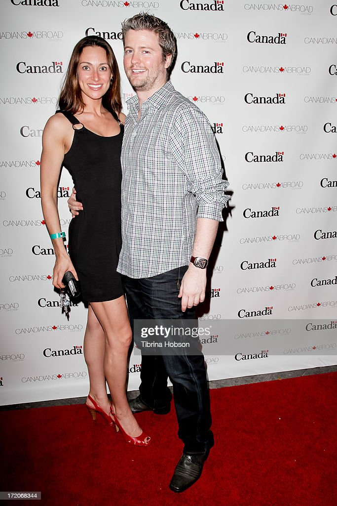 Mia Mastroianni and David J. Phillips attend the 2013 Canada Day in LA party at Wokano restaurant on June 30, 2013 in Santa Monica, California.