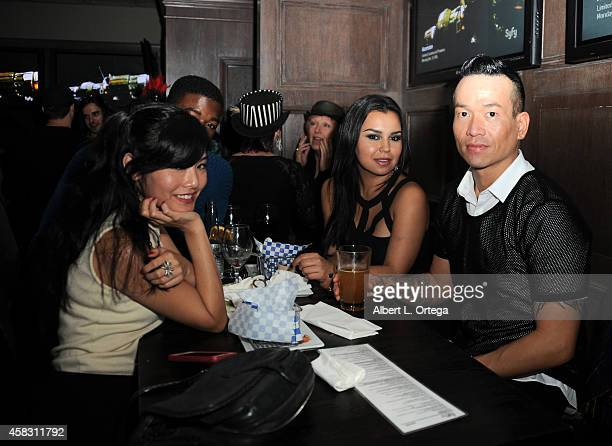 Mia Matsumiya and guests attend the Season Finale For SyFy Channel's 'Faceoff' Season 7 Viewing Party held at The Parlor on October 28 2014 in West...