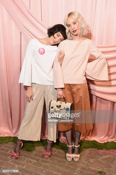 Mia Moretti and Margot attend the alice olivia by Stacey Bendet Fall 2017 Presentation at Highline Stages on February 14 2017 in New York City