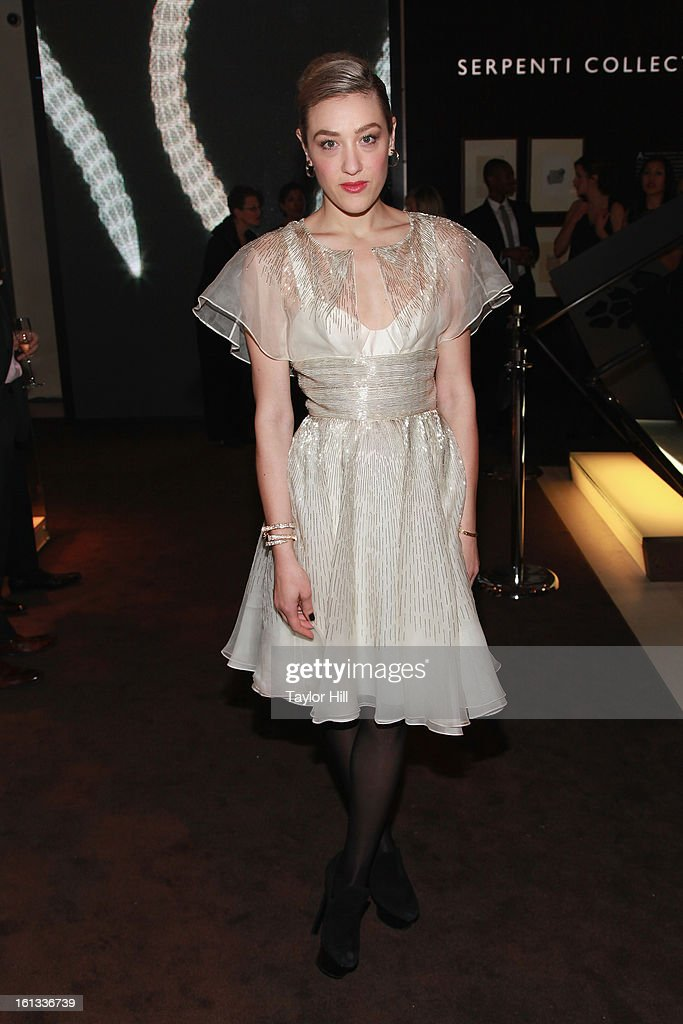 DJ <a gi-track='captionPersonalityLinkClicked' href=/galleries/search?phrase=Mia+Moretti&family=editorial&specificpeople=5368220 ng-click='$event.stopPropagation()'>Mia Moretti</a> attends Bulgari Celebrates Icons Of Style: The Serpenti during Fall 2013 Fashion Week at Bulgari Fifth Avenue on February 9, 2013 in New York City.