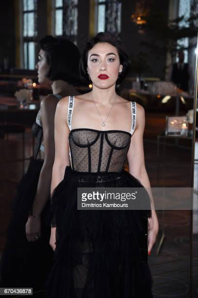 Mia Moretti attends Harper's BAZAAR 150th Anniversary Event presented with Tiffany Co at The Rainbow Room on April 19 2017 in New York City