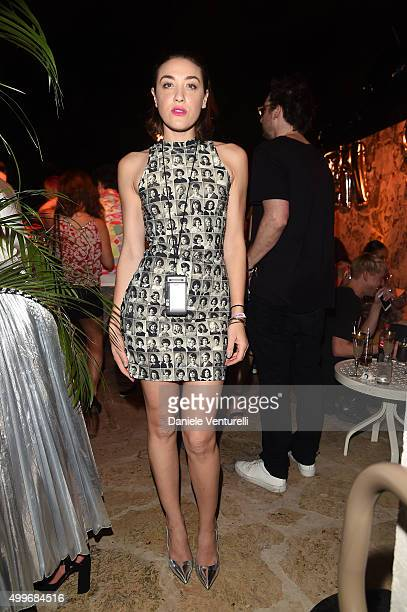Mia Moretti attends Jeremy Scott Art Basel Party at the Surf Lodge At The Hall on December 2 2015 in Miami Beach Florida