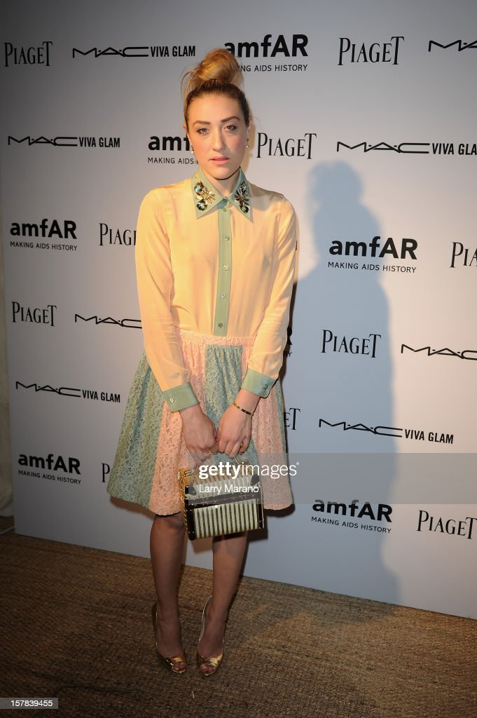 Mia Moretti attends the amfAR Inspiration Miami Beach Party at Soho Beach House on December 6, 2012 in Miami Beach, Florida.