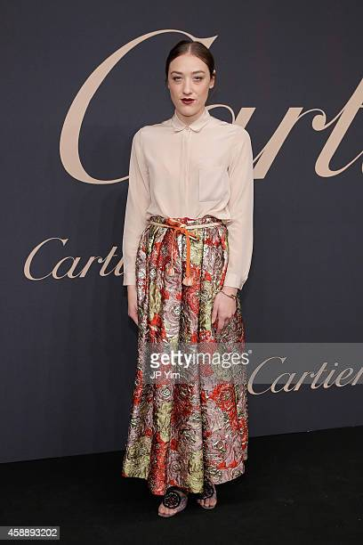 Mia Moretti attends The Maison Cartier Celebrates 100th Anniversary Of Their Emblem La Panthere De Cartier at Skylight Clarkson Sq on November 12...