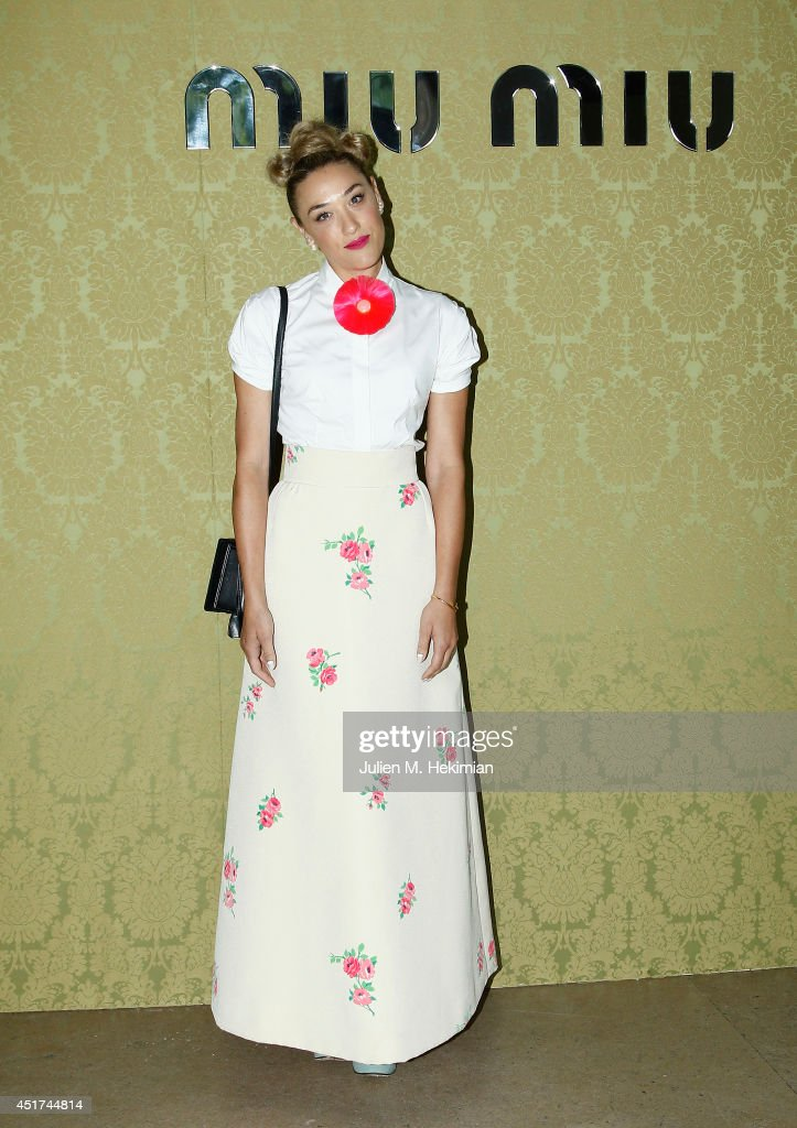 DJ <a gi-track='captionPersonalityLinkClicked' href=/galleries/search?phrase=Mia+Moretti&family=editorial&specificpeople=5368220 ng-click='$event.stopPropagation()'>Mia Moretti</a> attends the Miu Miu Resort Collection 2015 at Palais d'Iena on July 5, 2014 in Paris, France.