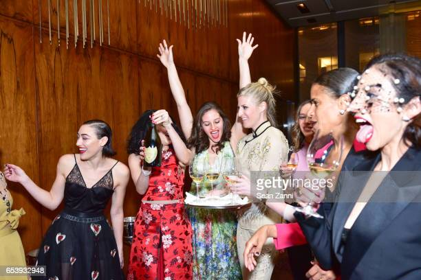 Mia Moretti Stacey Bendet Eisner Guest Casey Fremont Zoe Buckman Guest and Shari Loeffler attend Art Production Fund's Bright Lights Big City Gala at...