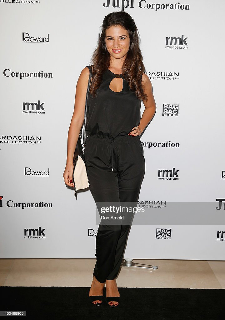 Mia Morrissey poses at the Kardashian Kollection cocktail party at the Park Hyatt Guest House on November 19, 2013 in Sydney, Australia.