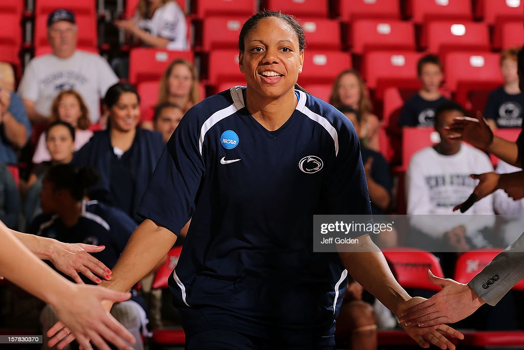 Mia Nixon #24 of the Penn State Lady Lions is introduced before the game against the Northridge Matadors at The Matadome on November 24, 2012 in Northridge, California. Penn State won 85-73.