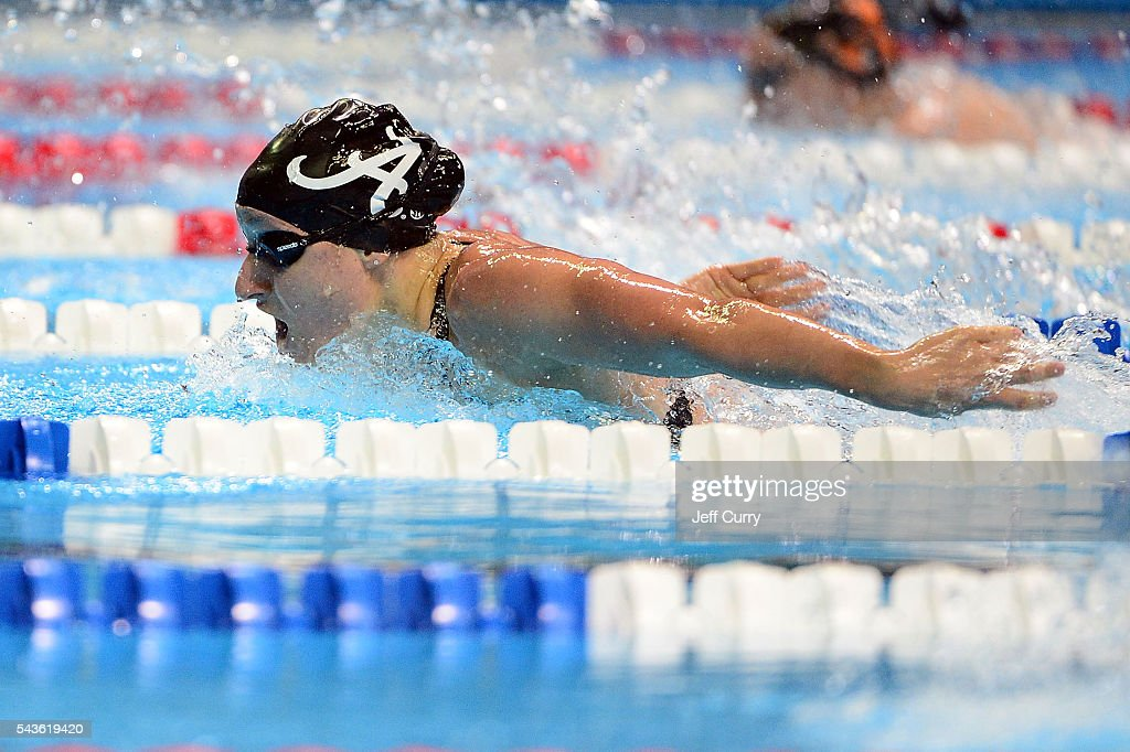 Mia Nonnenberg of the United States competes in a preliminary heat of the Women's 200 Meter Butterfly during Day 4 of the 2016 U.S. Olympic Team Swimming Trials at CenturyLink Center on June 29, 2016 in Omaha, Nebraska.