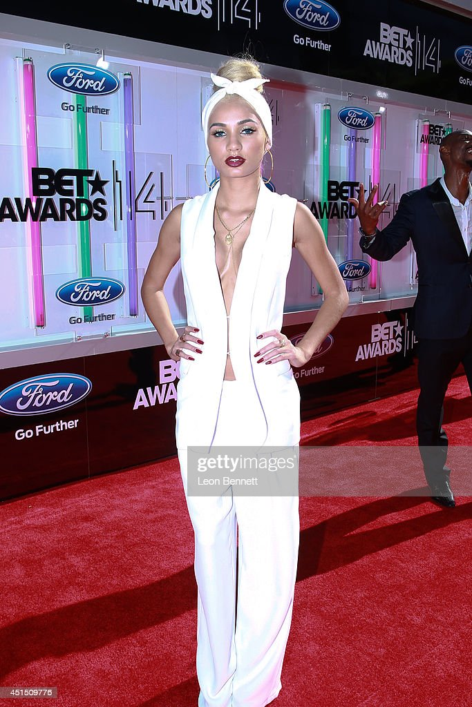 Mia Pia Perez arrived at the BET & Make A Wish Foundation Recipient Wish To Attend BET Awards Red Carpet Arrivals on June 29, 2014 in Los Angeles, California.