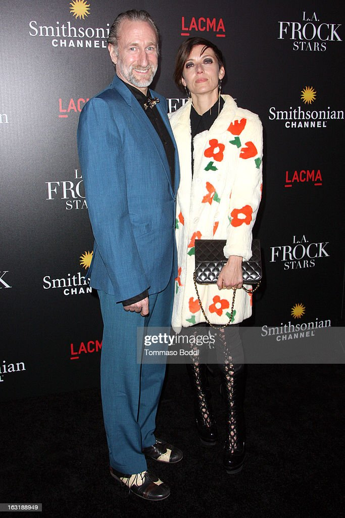 Mia Sara (R) and Brian Henson attend the 'L.A.Frock Stars' Los Angeles screening and party held at the LACMA on March 5, 2013 in Los Angeles, California.