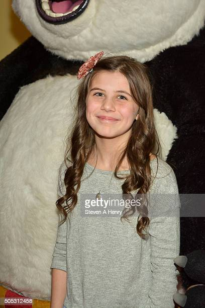 Mia Sinclair Jenness attends a screening of 'Kung Fu Panda3' at AMC Loews Kips Bay 15 theater on January 16 2016 in New York City