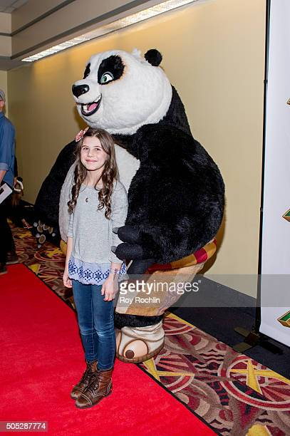 Mia Sinclair Jenness attends the 'Kung Fu Panda 3' New York screening at AMC Loews Kips Bay 15 theater on January 16 2016 in New York City