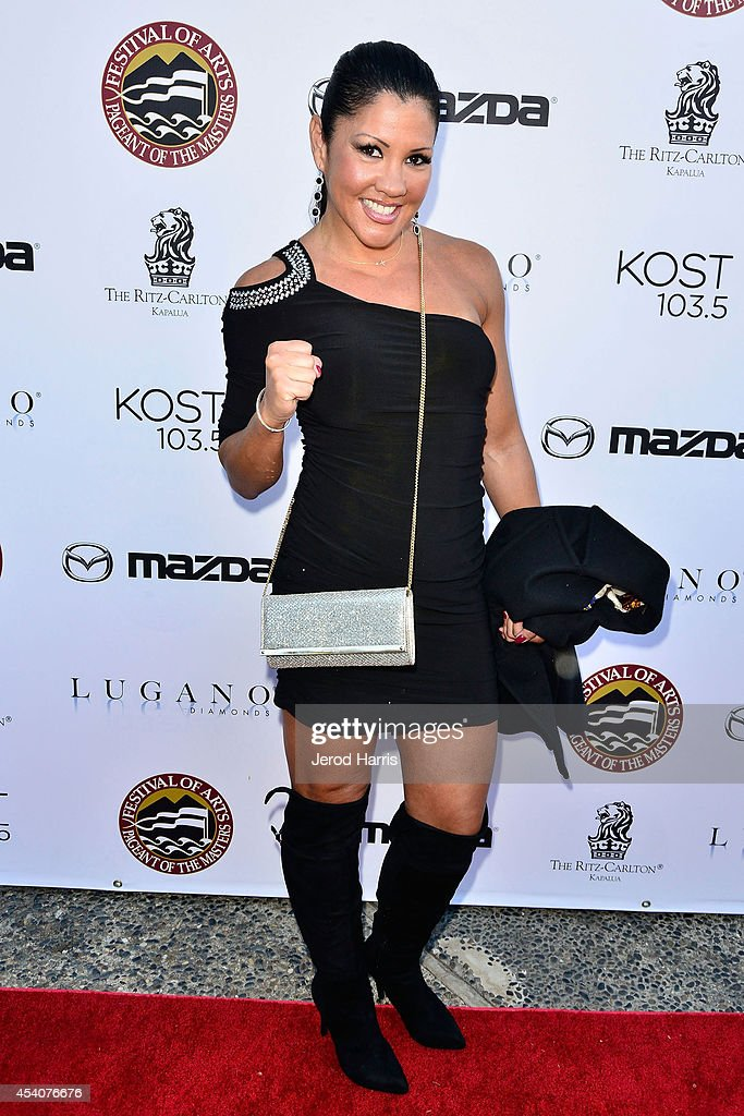 <a gi-track='captionPersonalityLinkClicked' href=/galleries/search?phrase=Mia+St.+John&family=editorial&specificpeople=580551 ng-click='$event.stopPropagation()'>Mia St. John</a> attends the Festival of Arts Celebrity Benefit Concert and Pageant on August 23, 2014 in Laguna Beach, California.
