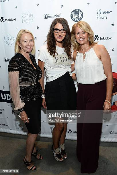 Mia Tawney Tami Holzman and Sue Chrispell attend the book launch for 'From CStudent to the CSuite Leveraging Emotional Intelligence' at PLATFORM in...