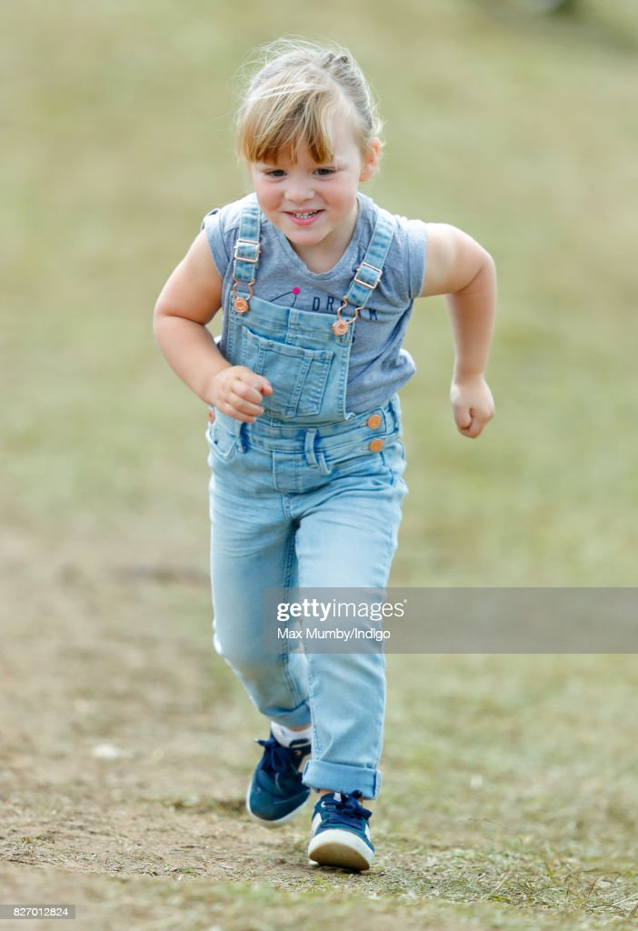 Mia Tindall attends day 3 of the Festival of British Eventing at Gatcombe Park on August 6, 2017 in Stroud, England.