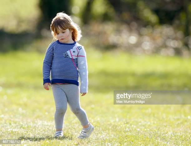 Mia Tindall attends the Gatcombe Horse Trials at Gatcombe Park on March 25 2017 in Stroud England