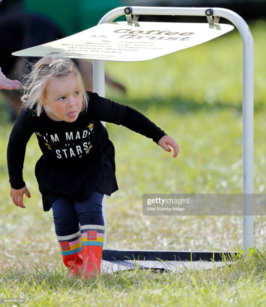 Mia Tindall attends the Whatley Manor Horse Trials at Gatcombe Park on September 9, 2017 in Stroud, England.